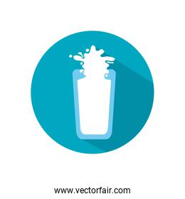 Isolated milk glass flat style icon vector design
