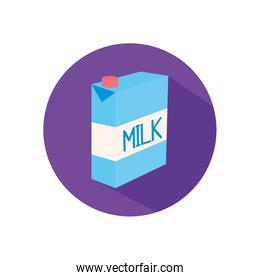 Isolated milk box flat style icon vector design