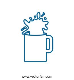 Isolated milk mug line style icon vector design