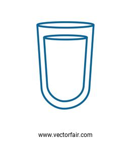 Isolated milk glass line style icon vector design