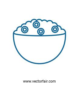 Isolated milk cereal bowl line style icon vector design