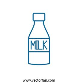 Isolated milk bottle line style icon vector design