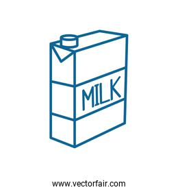 Isolated milk box line style icon vector design