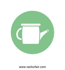 Isolated watering can tool silhouette block style icon vector design