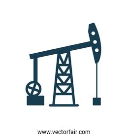 Isolated oil pump silhouette style icon vector design