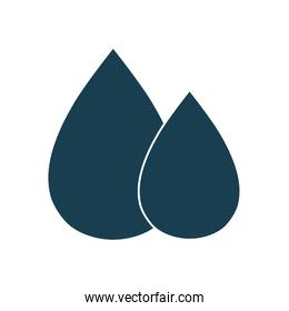 Isolated oil drops silhouette style icon vector design