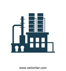 Isolated factory silhouette style icon vector design