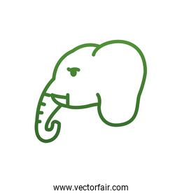 Elephant gradient style icon vector design