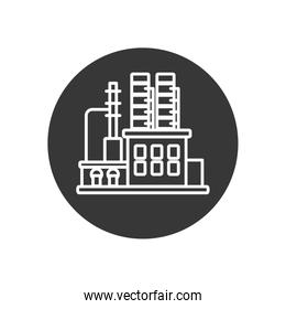Isolated factory line block style icon vector design