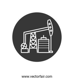 Isolated oil pump line block style icon vector design