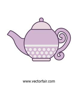 Isolated tea kette line and fill style icon vector design