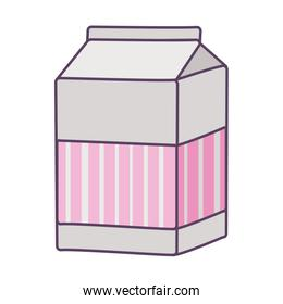 Isolated milk box drink line and fill style icon vector design