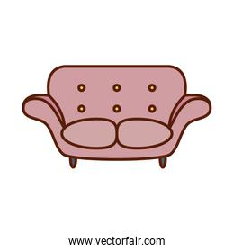 Isolated chair line and fill style icon vector design