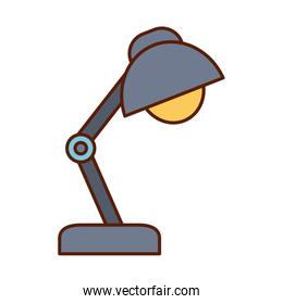 Isolated desk lamp line and fill style icon vector design