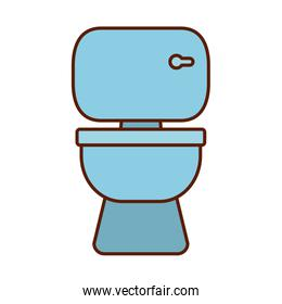 Isolated toilet line and fill style icon vector design