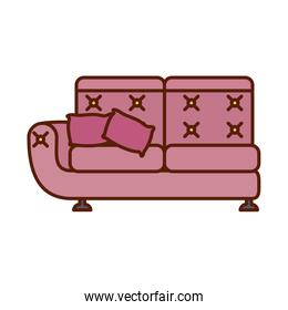 Isolated couch line and fill style icon vector design