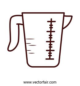 Isolated measuring cup line style icon vector design
