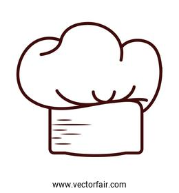 Isolated chefs hat line style icon vector design