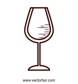 Isolated wine cup line style icon vector design