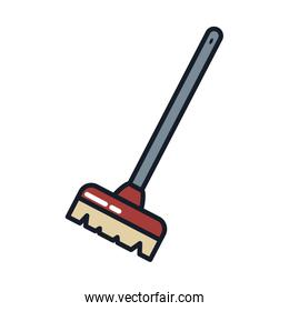 brush line and fill style icon vector design