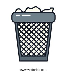 Isolated trash line and fill vector design