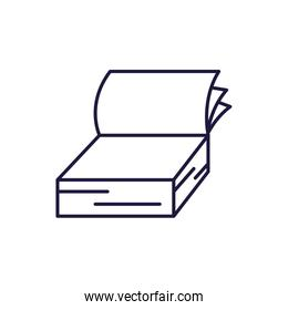 Isolated open book line style icon vector design