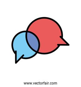 Isolated communication bubble icon fill vector design