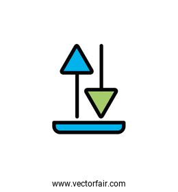 Isolated download and upload fill vector design