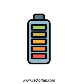 Isolated battery icon fill vector design