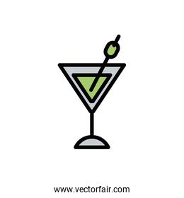Isolated cocktail icon vector design