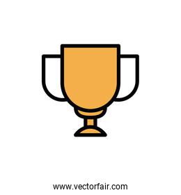 Isolated trophy icon fill vector design
