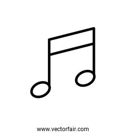 Isolated music note icon line vector design