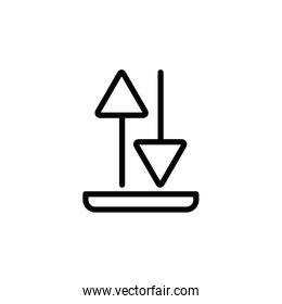 Isolated download and upload line vector design