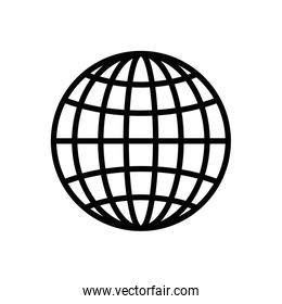Isolated global sphere icon line vector design
