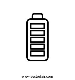 Isolated battery icon line vector design