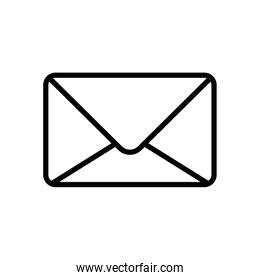 Isolated envelope icon line vector design