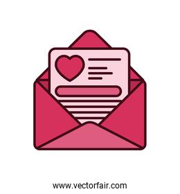 Isolated love card fill vector design