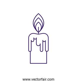 Isolated candle line vector design
