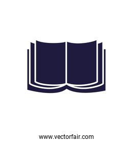 Isolated open book silhouette style icon vector design