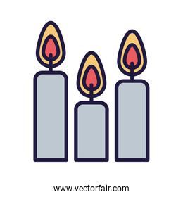 Isolated candles icons vector design