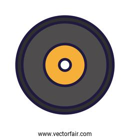 Isolated music vinyl vector design