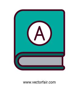 Isolated education book vector design