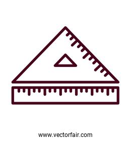 Isolated ruler instrument vector design