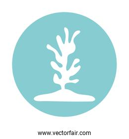 Isolated coral block style icon vector design