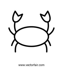 Isolated crab silhouette style icon vector design