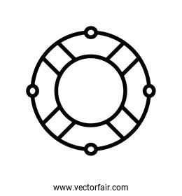 Isolated safe float helmet silhouette style icon vector design