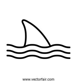 Isolated shark silhouette style icon vector design