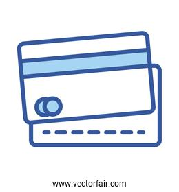 Isolated money credit card line and fill style icon vector design