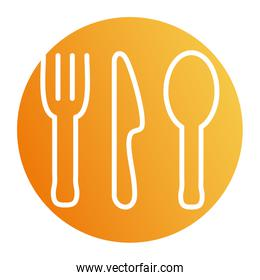 Isolated cutlery block style icon vector design