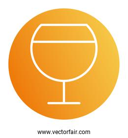 Isolated wine cup block style icon vector design